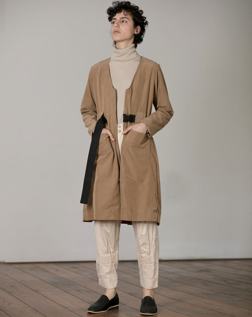 Cupro Coat | Butterscotch