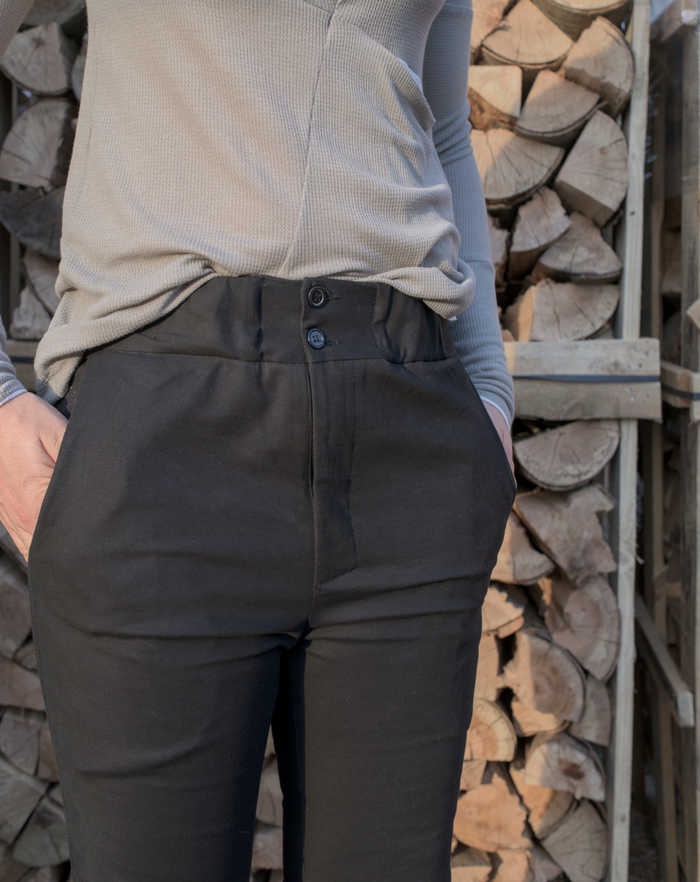 Kneefold Trousers | Black