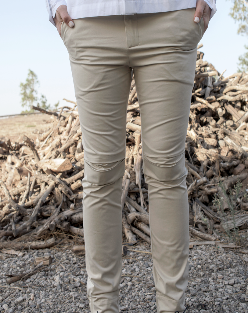 Kneefold Trousers | Nude