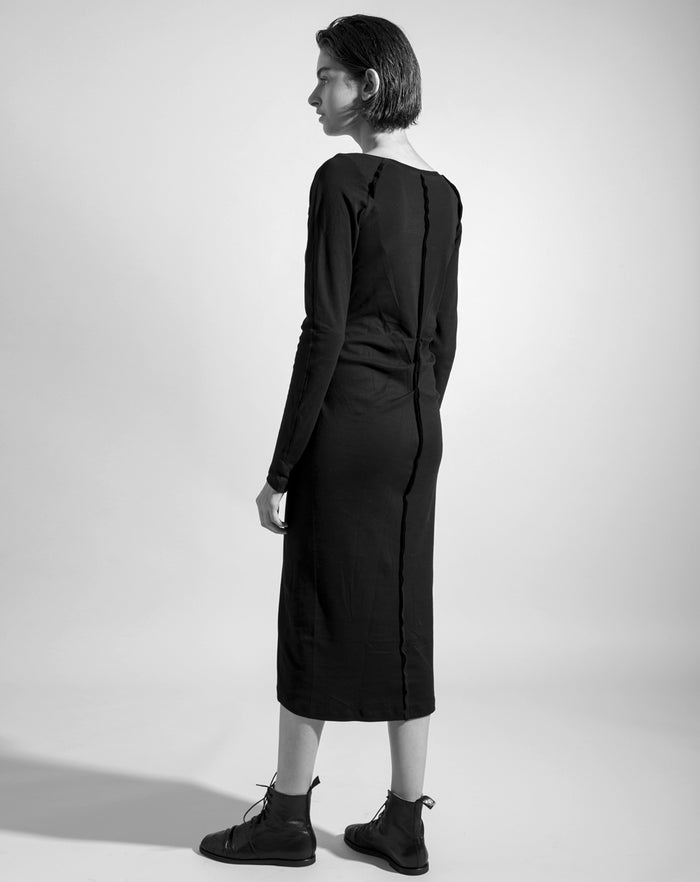 The Black 'Lineation' Dress