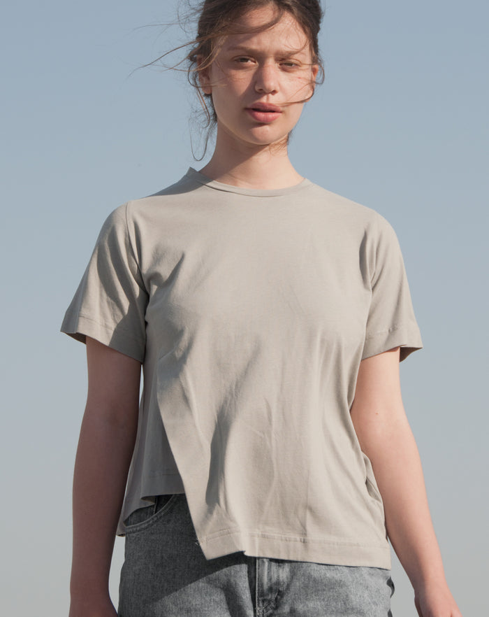 Dashed T-Shirt | Beige