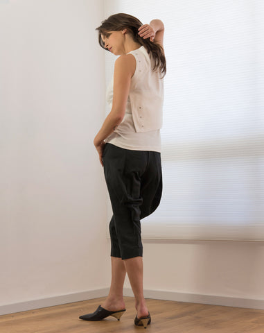 Wavy Pants | Satin ish Black