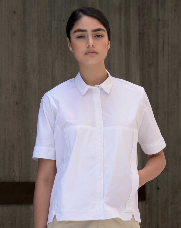 Squarish Blouse | White