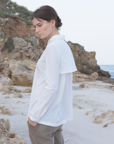 Wind blouse | White