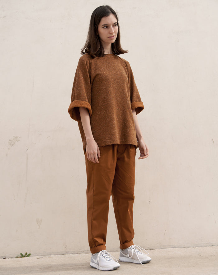 The Spring Sweatshirt | Black / Rust