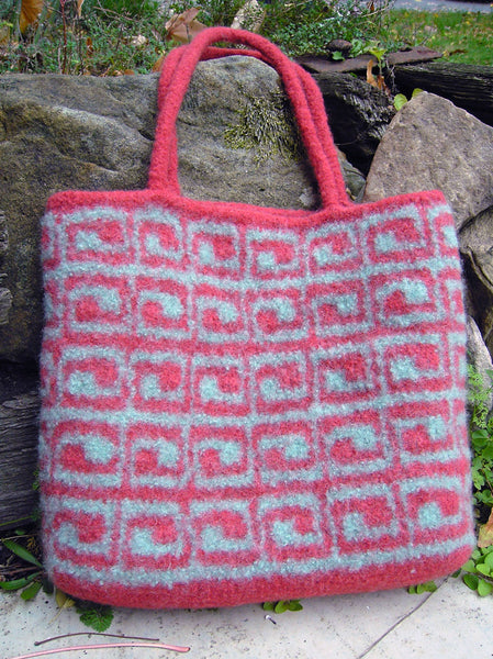 Box in Box Felted Bag