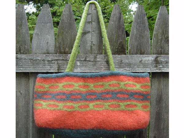 Felted Retro Chain Stitch Bag