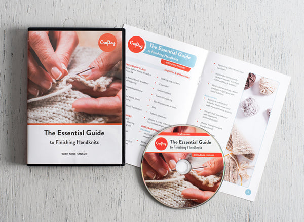 Essential Guide to Finishing Handknits with Anne Hanson DVD