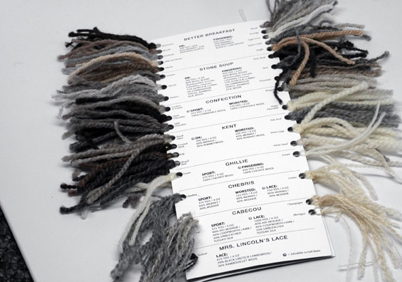 BNW Yarn Sample Cards