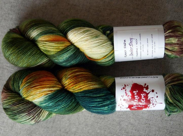 Asylum Fibers Funny Farm Fingering/Sock Understory (Mood)