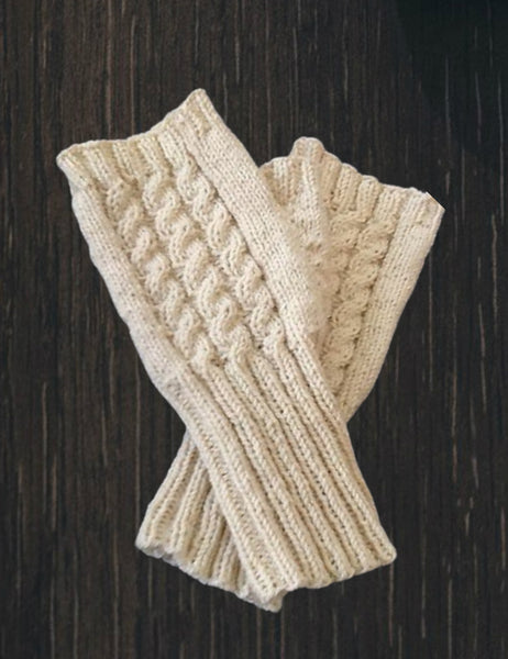 Fine Cabled Mitts