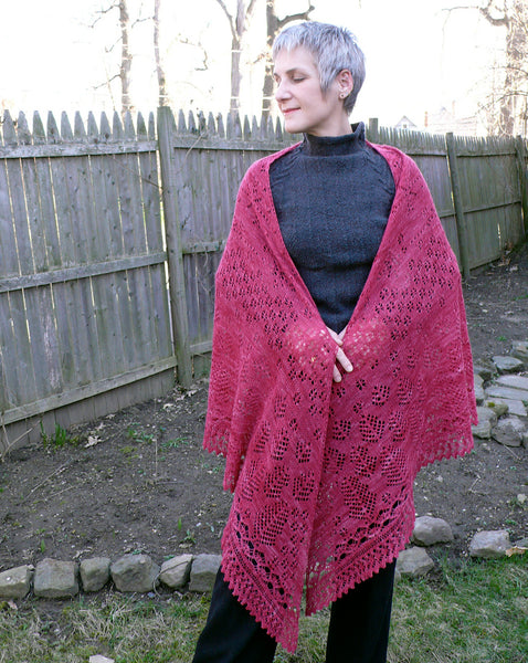 Whispering Pines Triangle Shawl