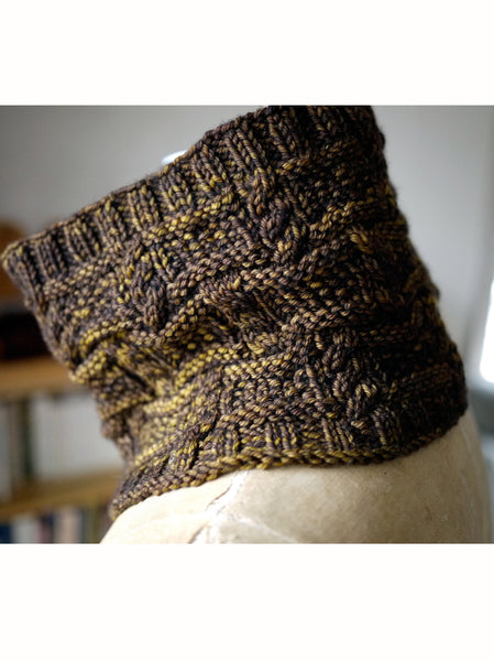 Woodstacking Cowl Knitting Pattern