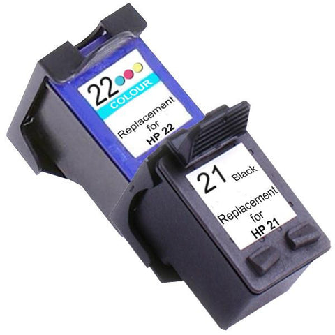 21XL Remanufactured Inkjet Cartridge Set #1 2 Ink Cartridges