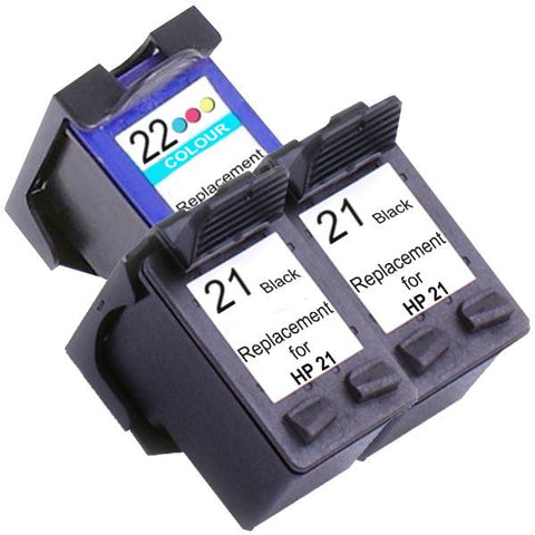21XL Remanufactured Inkjet Cartridge Set #2 3 Ink Cartridges