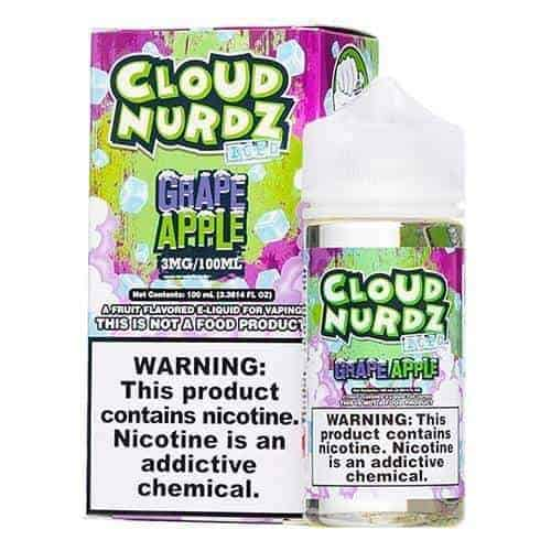 Cloud Nurdz Iced Grape Apple Ejuice - eJuice.Deals