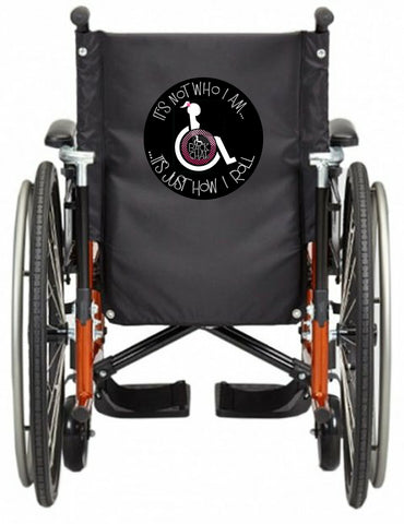 'HOW i ROLL' Wheelchair vest/cover