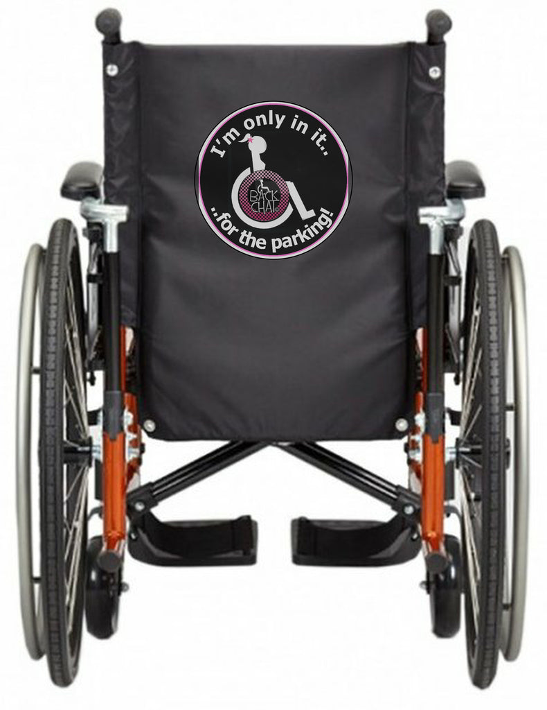 'iN iT FOR THE PARKiNG' Wheelchair vest/cover
