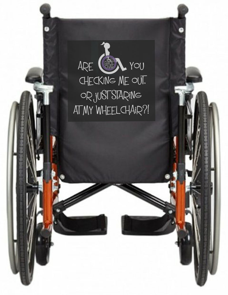'CHECKiNG ME OUT' Wheelchair vest/cover