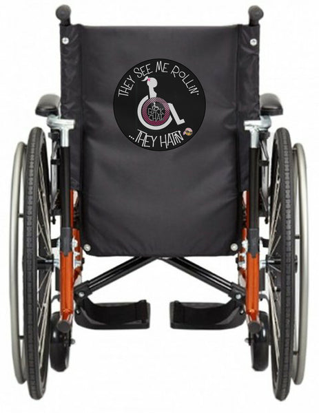 'SEE ME ROLLiN' Wheelchair vest/cover - FEMALE