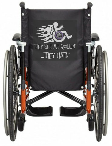 'SEE ME ROLLiN' Wheelchair vest/cover - BiKER