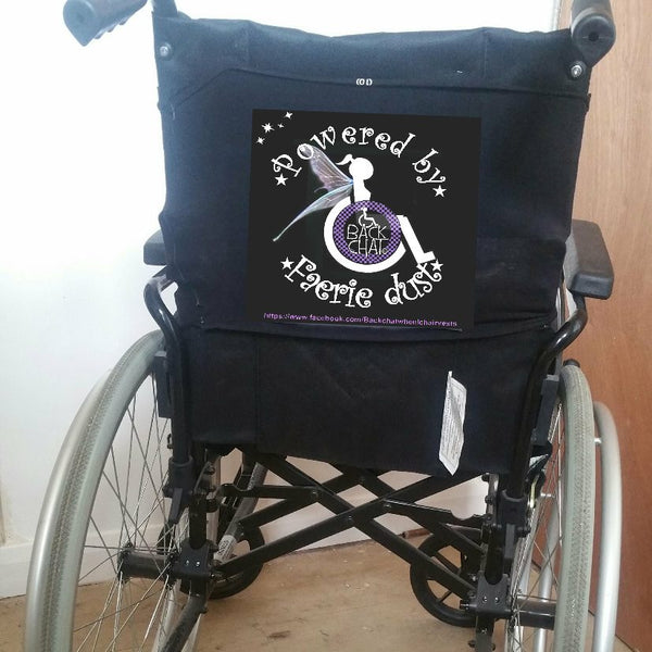 'POWERED BY FAERiE DUST' Wheelchair vest/cover
