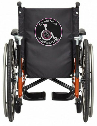 'i'M NOT BRAVE' Wheelchair vest/cover