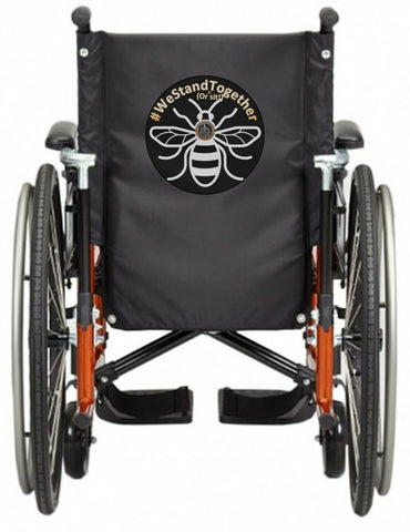 'WE STAND TOGETHER' Wheelchair vest/cover