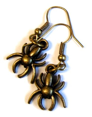 SPiDER EAR-RiNGS - available in silver or antique gold