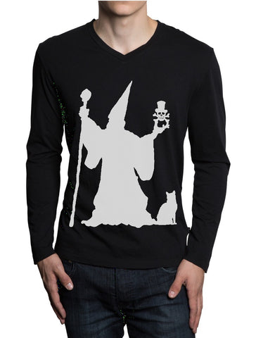 DEiTY WiZARD SiLHOUETTE MENS LS T-SHiRT - available in Black or White