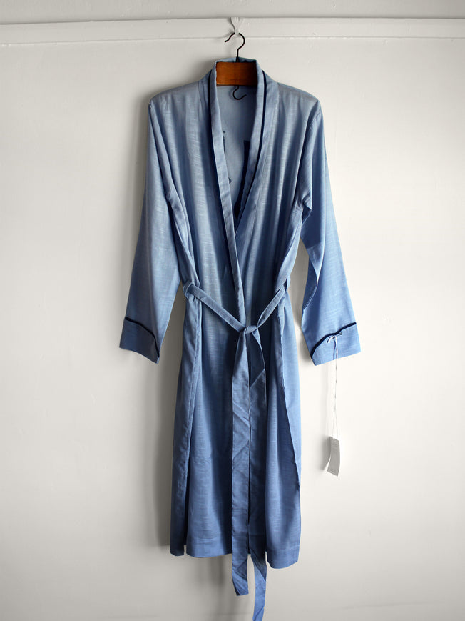 Blue Face Organic Cotton Robe