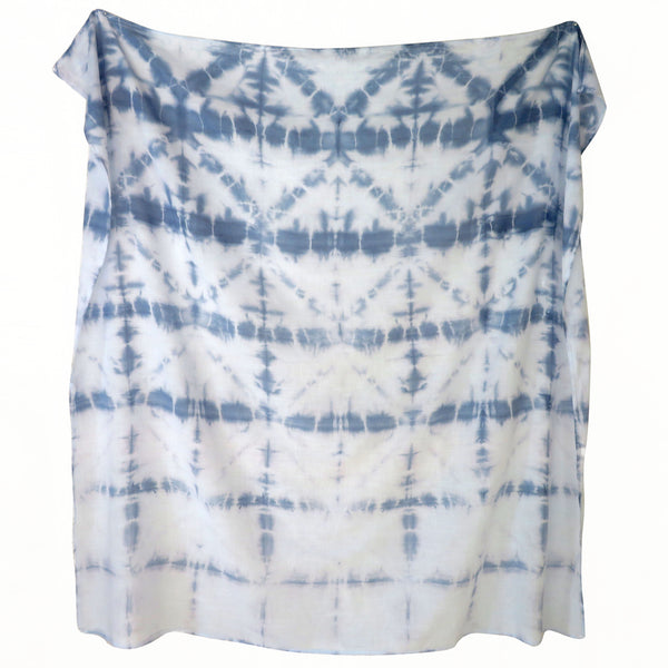 Oceanic Diamond Shibori Baby Swaddle