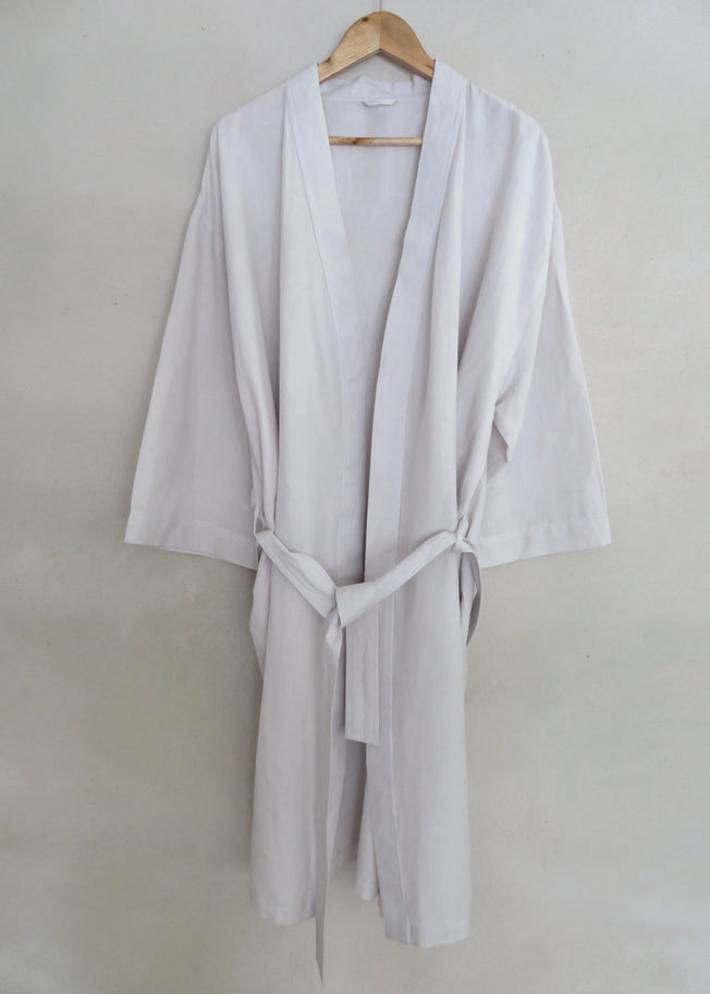Sunday Unisex Robe Dove Grey