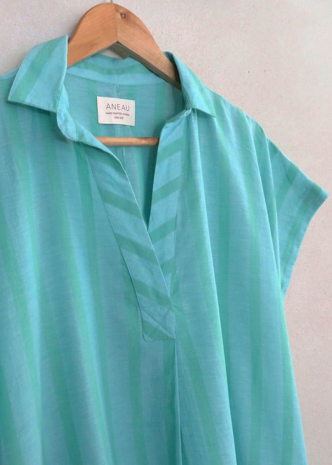 Pip Pop Over Shirt Dress Sea