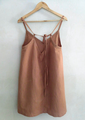 Sloane Tie Back Dress Clay