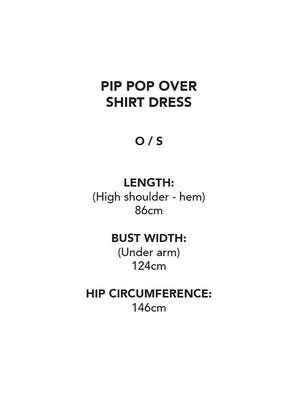 Pip Pop Over Shirt Dress - Sea