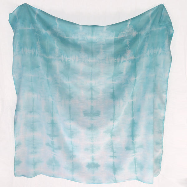 Seafoam Waterfall Shibori Baby Swaddle
