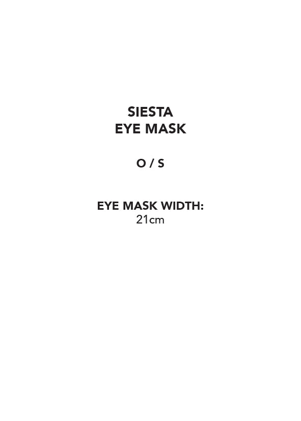 Siesta Eye Mask Dove Grey