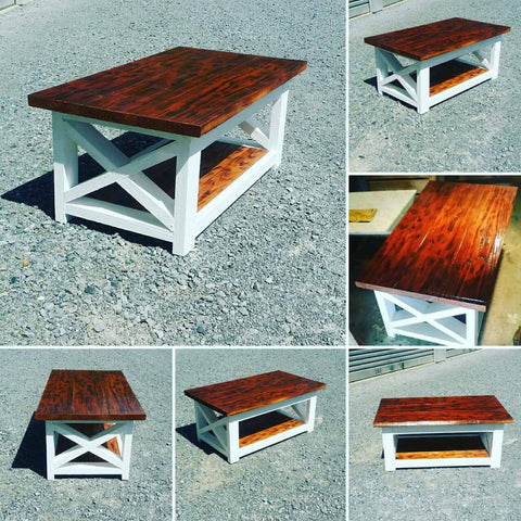 X Frame Square side Table