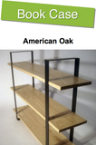 Oak Book Case - 3 Solid Shelves