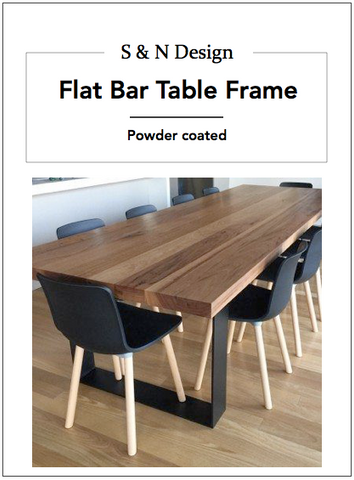 Flat Bar Table Frames -680mm x 710mm