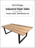 Industrial Style Tables - Wooden Top