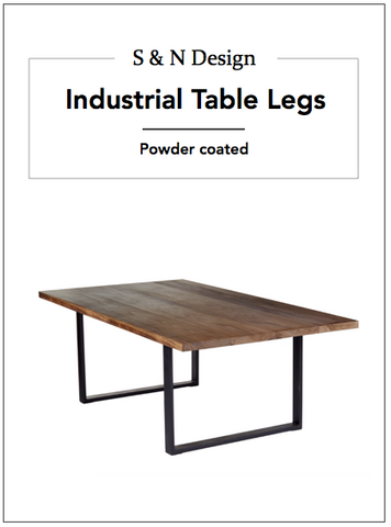 Industrial Table Legs - 750mm x 550mm