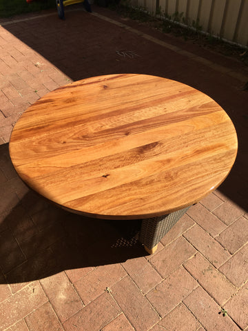 2 x Timber Table Top | 600mm Round