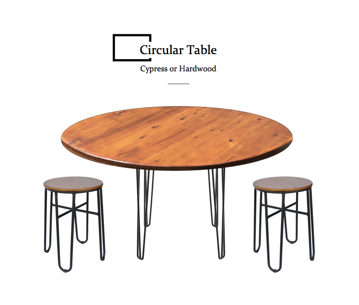 Cypress or Hardwood Circular Table - Sandndesign