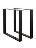 710mm x 800mm Black Powder Coated Table Legs