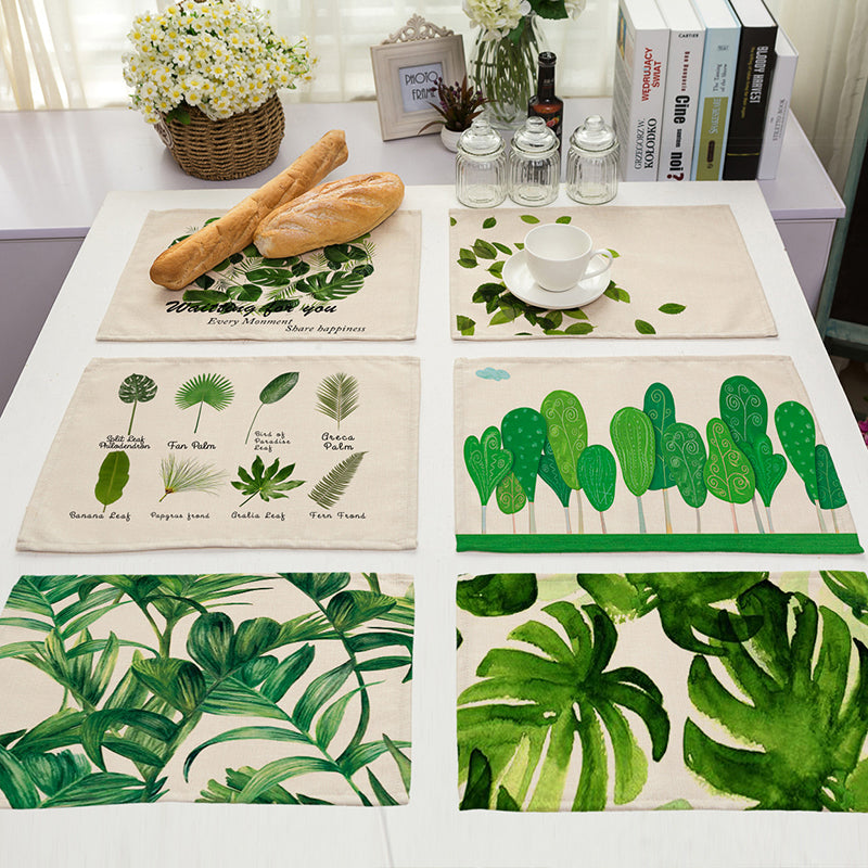 Green Leaf Table Mats - Sandndesign