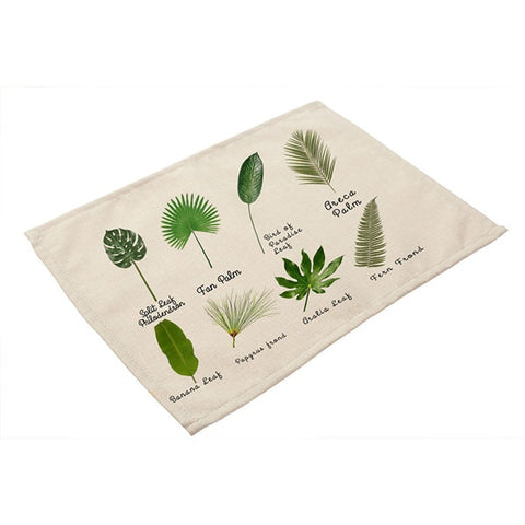Green Leaf Table Mats