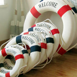 High Quality Welcome Aboard Nautical Life Lifebuoy Ring Boat Wall Hanging Mediterranean Style Home Decoration