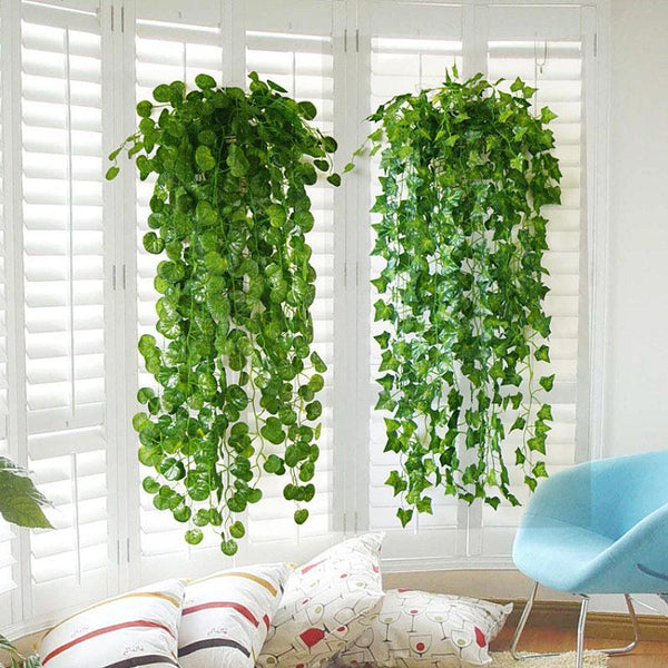 Artificial Green Leaf Ivy Wall Decor Room Decoration Fake Plants Vine Wedding para Succulent Indoor Artificiales Plant Garden 3 - Sandndesign